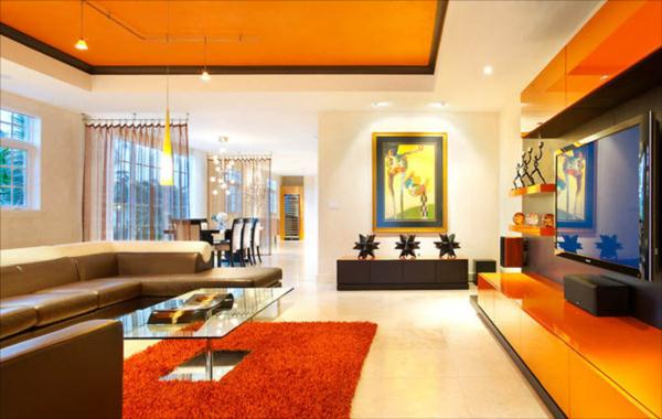 hues of orange fall interior decorating tips - Home Interior Decorating
